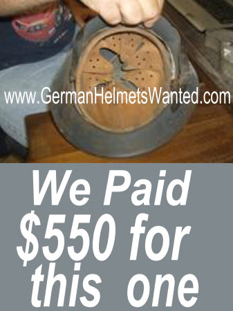 WW2 M40 Luftwaffe Helmet valuation pating