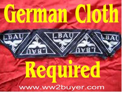 German cloth badges purchased