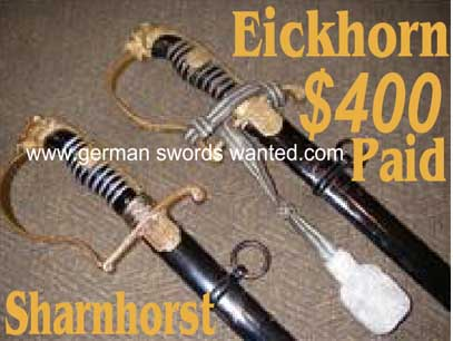 Sharnhorst German sword price