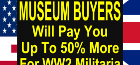 """MILITARIA""SAFEGUARDS AGAINST BEING SCAMMED . ALWAYS OBTAIN SEVERAL OPINIONS WHEN CONSIDERING THE SALE OF MILITARIA ONLINE. NEVER GET SEDUCED BY THE LINES SUCH AS  ""I AM A MILITARIA COLLECTOR""  COLLECTORS WHO SPEND THOUSANDS ON ADVERTISING ARE DOING SO FOR FINANCIAL REWARD EVEN IF THEY BUY AS PART OF THEIR PENSION SCHEME .. LOOK FOR A VAT NUMBER AND SEARCH THE GIVEN ADDRESS ON GOOGLE EARTH. IF IT IS A DOMESTIC RESIDENCE, A CAB OFFICE,OR SIMILAR WHICH FAILS TO MEASURE UP TO YOUR EXPECTATIONS MOOVE ON.  ALWAYS MAKE SURE YOU ARE BEING PAID USING THE ""PAYPAL "" SERVICE AND THAT THE BUYER WILL PROVIDE PAYMENT FOR SHIPPING COSTS.  GENUINE MUSEUM BUYERS ARE THOSE WITH A TRACK RECORD OF PROVIDING EXHIBITS FOR REGIMENTAL AND MILITARY MUSEUMS . SUCH BUYERS WILL PAY MORE THAN THE ESTABLISHED VALUE FOR ARTICLES WHICH COME WITH PROVENANCE ."