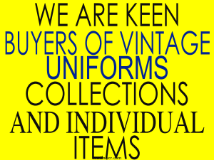 Dealers in old uniforms