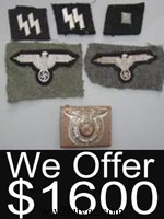 nazi badges ss valuation