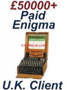 Enigma code machine for sale