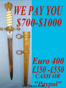 TO SELL MILITARIA TELEPHONE DAY OR NIGHT!