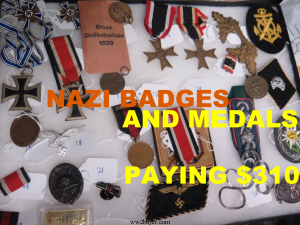 nazi badges and medals