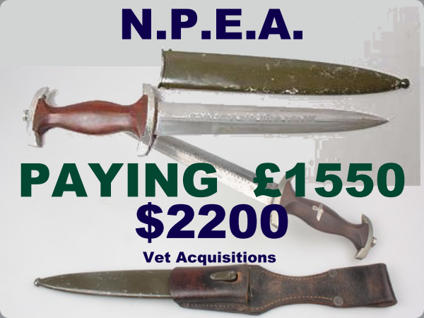 2020 prices for Nazi daggers