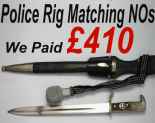 Nazi Police Bayonet Prices