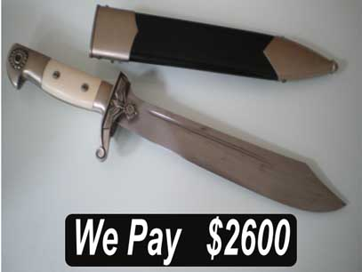 """TENO DAGGERS/HEWERS . DAVID MATTEY IS ON-LINE TO ANSWER INQUIRIES AND MAKE OFFERS WITHOUT OBLIGATION.    German Dagger Buyers pay in advance using the """"Paypal""""service. Sellers will not be required to ship items until full payment is shown to have been deposited in their """"Paypal""""Accounts.   Customers can expect to achieve around 70% of the list Prices seen on specialist websites for equivalent items. The selling process is immediate. German Dagger Buyers cover shipping costs and fees. Consigned collections and special items will achieve a greater return figure for sellers, potentially 80%-90% of dealers listed prices.of selling a TENO?."""