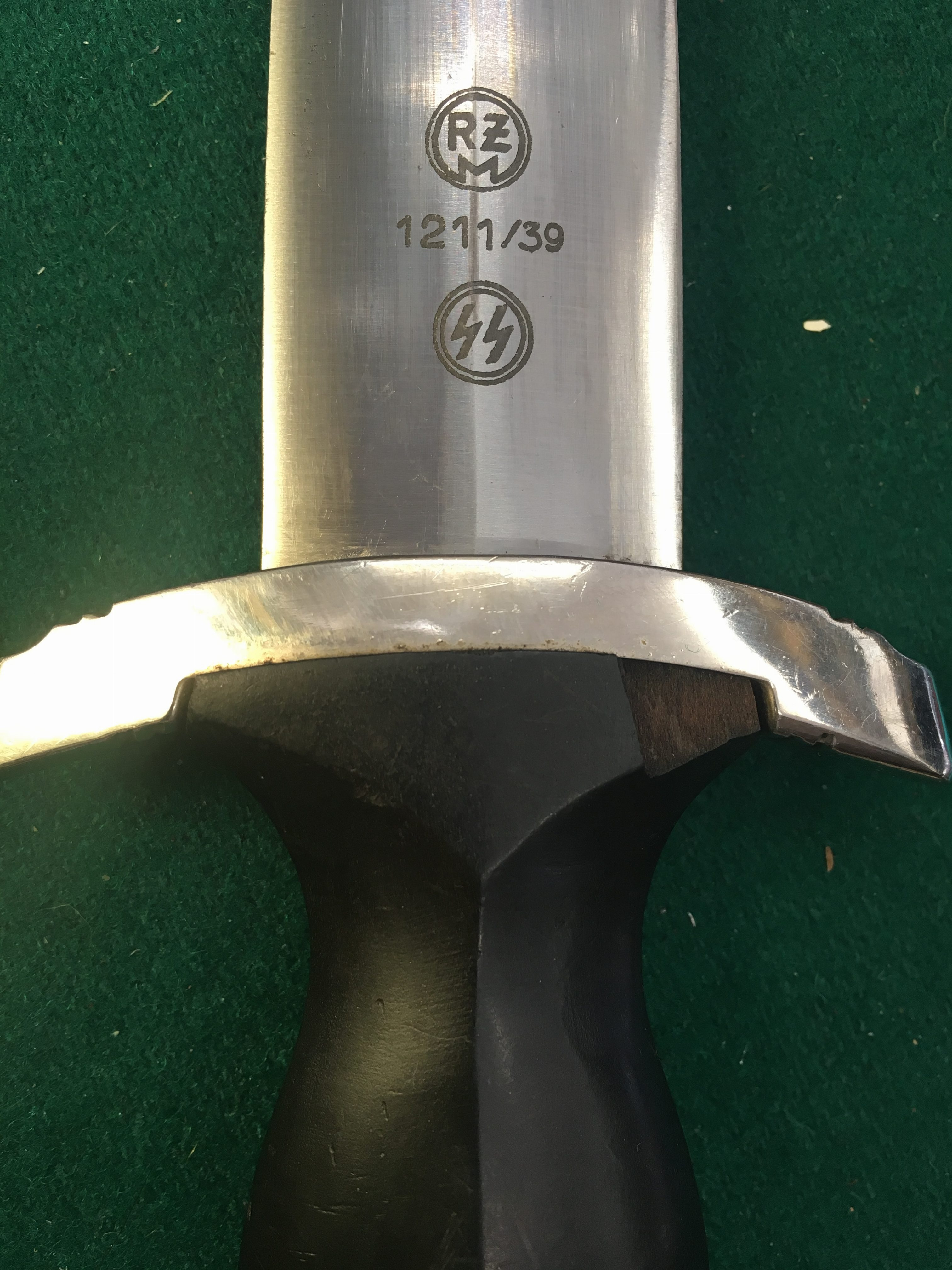 RZM 1211/39 SS Mans Dagger Meine ehre heibst true Dagger